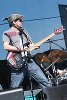 Mr. Greengenes, local band from Philadelphia, performs in the infield