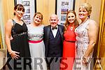 Carly O'Donovan, Kathy Irwin, Joe Hanley, Jessica Irwin and Rita Holly attending the Enable Ireland Diamond Ball in the Ballygarry House Hotel on Saturday.