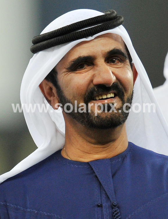 **ALL ROUND PICTURES FROM SOLARPIX.COM**.**WORLDWIDE SYNDICATION RIGHTS**.The official opening of the Dubai International Cricket Stadium, Dubai, Thursday May 7,2009.This pic:  His Highness Shaikh Mohammad Bin Rashid Al Maktoum,Vice President and Prime Minister of the UAE and Ruler of Dubai.JOB REF:   8976   DBL     DATE: 07.05.09.**MUST CREDIT SOLARPIX.COM OR DOUBLE FEE WILL BE CHARGED**.**ONLINE USAGE FEE GBP 50.00 PER PICTURE - NOTIFICATION OF USAGE TO PHOTO @ SOLARPIX.COM**.**CALL SOLARPIX : +34 952 811 768 or LOW RATE FROM UK 0844 617 7637**