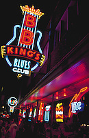 Beale Street, known as the Home of the blues, and blues club, Memphis, Tennessee
