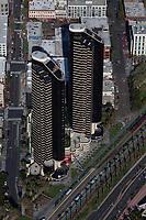 aerial photograph Harbor Club Condominium east and west towers, San Diego, California