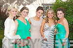 STYLE: Showing their style at the Scoil Mhuire & Íde, Newcastle West debs at the Abbeygate hotel, Tralee on Friday l-r: Louisa Browne, Katherina Noonan, Aisling Collun, Aoife Doherty and Catherine Hough.