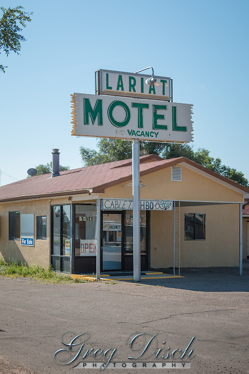 The Lariat Motel on Route 66 in Moriarty New Mexico.