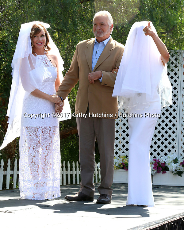 """LOS ANGELES - APR 14:  Bobbie Eakes, John McCook, Jennifer Gareis at the """"Home and Family"""" Celebrates """"Bold and Beautiful's"""" 30 Years at Universal Studios Back Lot on April 14, 2017 in Los Angeles, CA"""