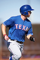 Texas Rangers Austin O'Banion (81) during an Instructional League game against the Kansas City Royals on October 4, 2016 at the Surprise Stadium Complex in Surprise, Arizona.  (Mike Janes/Four Seam Images)