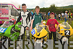 Gerry O' Brien, Rathkeale, Andrew and Darragh Murphy Mountcollins . Andrew and Darragh are curently placed second and first in their respective classes in the Irish racing league.