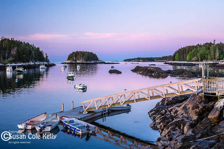 The fishing village of Five Islands in Georgetown, Maine, USA