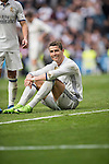 Cristiano Ronaldo of Real Madrid sits on the pitch during the match Real Madrid vs RCD Espanyol, a La Liga match at the Santiago Bernabeu Stadium on 18 February 2017 in Madrid, Spain. Photo by Diego Gonzalez Souto / Power Sport Images