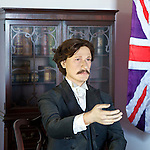 """Acting Consul"" Swinhoe Makes A Point In The Consul's Residence, Kaohsiung (Takow), Taiwan."