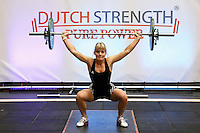Nederland  Amsterdam  2016 . De Fitness Expo.  De Fitness Expo is een fitness en lifestyle event  in de Sporthallen Zuid met diverse wedstrijden en clinics. Dutch Strength weightlifting competitie. Foto Berlinda van Dam / Hollandse Hoogte