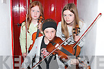 Taking part in the music workshop at the Sean McCarthy weekend in Finuge on Sunday were in front, Robin Doyle, back from left, Fionnula and Aoife Trench, from Listowel..