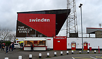 A general view of County Ground, home of Swindon Town FC<br /> <br /> Photographer Andrew Vaughan/CameraSport<br /> <br /> The EFL Sky Bet League Two - Swindon Town v Lincoln City - Saturday 12th January 2019 - County Ground - Swindon<br /> <br /> World Copyright &copy; 2019 CameraSport. All rights reserved. 43 Linden Ave. Countesthorpe. Leicester. England. LE8 5PG - Tel: +44 (0) 116 277 4147 - admin@camerasport.com - www.camerasport.com