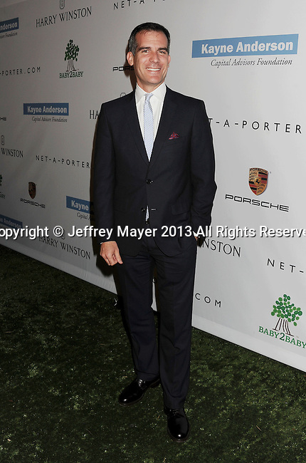 CULVER CITY, CA- NOVEMBER 09: Los Angeles Mayor Eric Garcetti arrives at the 2nd Annual Baby2Baby Gala at The Book Bindery on November 9, 2013 in Culver City, California.