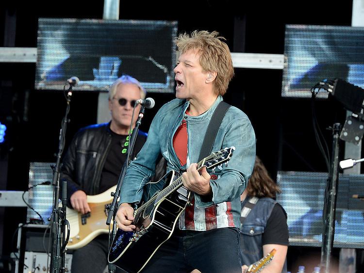 Jon Bon Jovi performing at Slane Castle. Photo:Colin Bell/pressphotos.ie