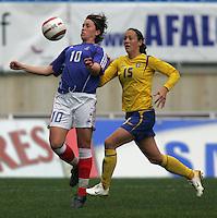 MAR 15, 2006: Faro, Portugal:  Therese Sjogran, Camille Abily