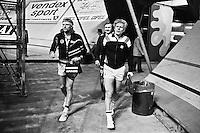 1979, ABN Tennis Toernooi, Borg en Cox betreden de Arena