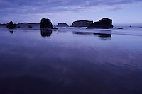 Low tide at sunrise, Bandon Beach, Bandon, Oregon, USA