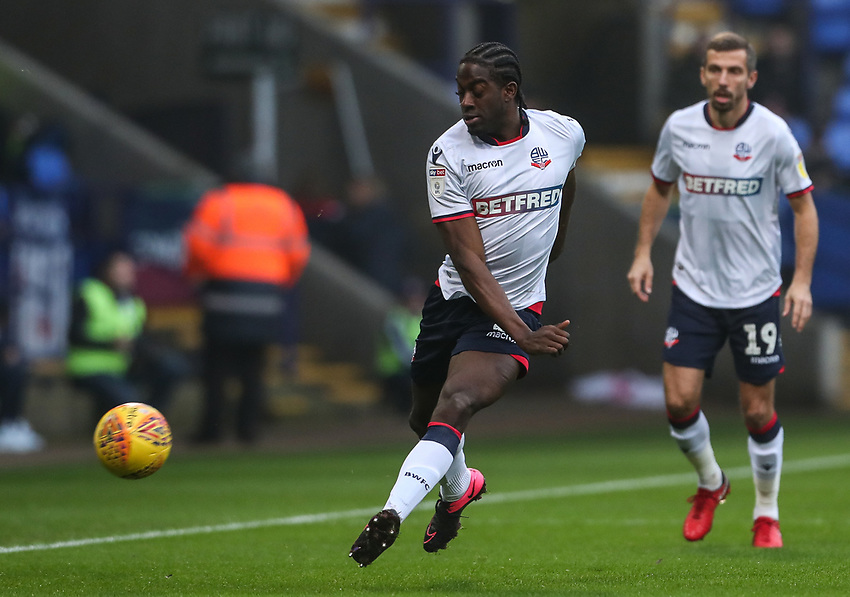 Bolton Wanderers' Clayton Donaldson <br /> <br /> Photographer Andrew Kearns/CameraSport<br /> <br /> The EFL Sky Bet Championship - Bolton Wanderers v Rotherham United - Wednesday 26th December 2018 - University of Bolton Stadium - Bolton<br /> <br /> World Copyright © 2018 CameraSport. All rights reserved. 43 Linden Ave. Countesthorpe. Leicester. England. LE8 5PG - Tel: +44 (0) 116 277 4147 - admin@camerasport.com - www.camerasport.com