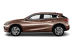 Car Driver side profile view of a 2016 Infiniti Q30 Premium 5 Door Hatchback Side View