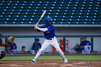 AZL Cubs center fielder Chris Singleton (16) at bat against the AZL Giants on July 17, 2017 at Sloan Park in Mesa, Arizona. AZL Giants defeated the AZL Cubs 12-7. (Zachary Lucy/Four Seam Images)