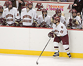 Peter Harrold, Brett Motherwell, Tim Kunes, Joe Adams, Brian O'Hanley, Matt Greene - Stephen Gionta - Boston College defeated Merrimack College 3-0 with Tim Filangieri's first two collegiate goals on November 26, 2005 at Kelley Rink/Conte Forum in Chestnut Hill, MA.