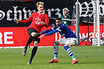 11.05.2019, BayArena, Leverkusen, GER, 1. FBL, Bayer 04 Leverkusen vs. FC Schalke 04 ,<br />  <br /> DFL regulations prohibit any use of photographs as image sequences and/or quasi-video<br /> <br /> im Bild / picture shows: <br /> Julian Brandt (Leverkusen #10), im Zweikampf gegen  Omar Mascarell (FC Schalke #6), <br /> <br /> Foto &copy; nordphoto / Meuter