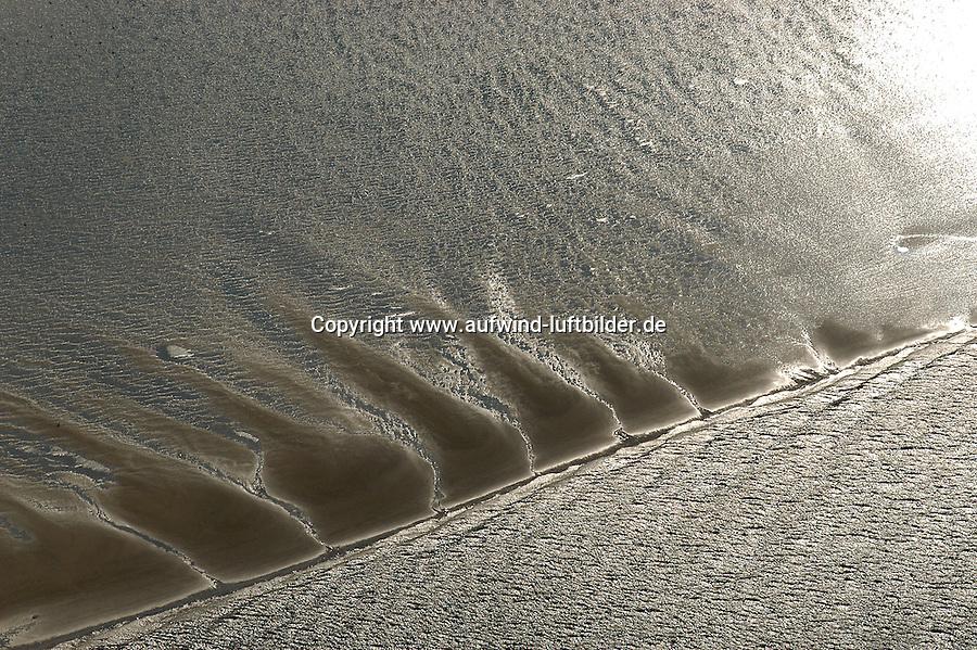 4415/Suesswasserwatt: EUROPA, DEUTSCHLAND, HAMBURG,  05.09.2003: Muehlenberger Loch, Elbe, .Ein Süßwasserwatt ist ein durch Einfluss der Tide bei Ebbe trockenfallender Gewässerboden eines Tideflusses...Ähnlich wie im Wattenmeer zeigen auch Süßwasserwatten eine geologische und biologische Zonierung. Die Tier- und Pflanzenarten sind jedoch vielfach andere. So befinden sich in der oberen Zone von Süßwasserwatten vor allem Schilf- und Binsenriede. Süßwasserwatten zählen zu den produktionsbiologisch aktivsten Ökosystemen und haben großen Anteil an der Selbstreinigungskraft von Flüssen. Sie sind in der Regel sehr reich an Nährstoffen und Tieren und stellen wichtige Kinderstuben für Fische sowie Rastplätze für Vögel dar. Durch Eindeichungen ist der Bestand an Süßwasserwatten in den letzten 100 Jahren stark zurückgegangen.. Luftbild, Luftansicht