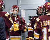 J.T. Brown (Duluth - 23), Jake Hendrickson (Duluth - 15)- The University of Minnesota-Duluth Bulldogs defeated the Union College Dutchmen 2-0 in their NCAA East Regional Semi-Final on Friday, March 25, 2011, at Webster Bank Arena at Harbor Yard in Bridgeport, Connecticut.