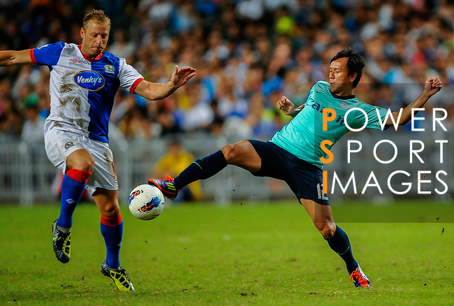 Vincenzo Grella of Blackburn Rovers in action against Kitchee FC during the Asia Trophy pre-season friendly match at the Hong Kong Stadium on July 30, 2011 in So Kon Po, Hong Kong. Photo by Victor Fraile / The Power of Sport Images