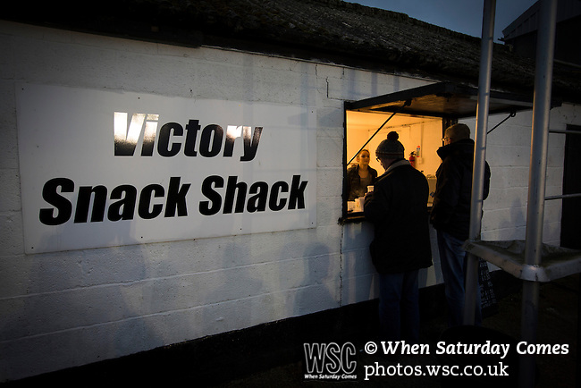 Chorley 2 Altrincham 0, 21/01/2017. Victory Park, National League North. Home supporters visiting one of the snack bars during the second-half at Victory Park, as Chorley played Altrincham (in yellow) in a Vanarama National League North fixture. Chorley were founded in 1883 and moved into their present ground in 1920. The match was won by the home team by 2-0, watched by an above-average attendance of 1127. Photo by Colin McPherson.