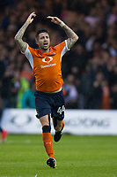 Luton Town's Alan Sheehan celebrate his sides equalising goal to make the score 1-1<br /> <br /> Photographer Craig Mercer/CameraSport<br /> <br /> The EFL Sky Bet League Two Play-Off Semi Final Second Leg - Luton Town v Blackpool - Thursday 18th May 2017 - Kenilworth Road - Luton<br /> <br /> World Copyright &copy; 2017 CameraSport. All rights reserved. 43 Linden Ave. Countesthorpe. Leicester. England. LE8 5PG - Tel: +44 (0) 116 277 4147 - admin@camerasport.com - www.camerasport.com
