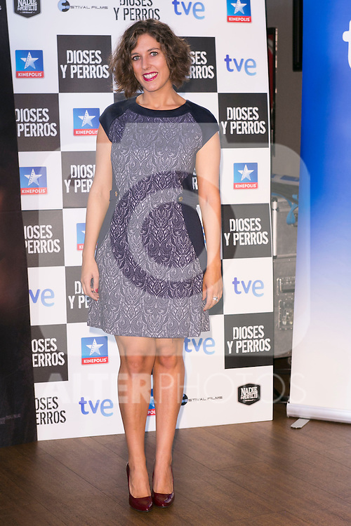 "Lucia Alvarez attends the ""DIOSES Y PERROS "" Movie presentation at Kinepolis Cinema in Madrid, Spain. October 6, 2014. (ALTERPHOTOS/Carlos Dafonte)"
