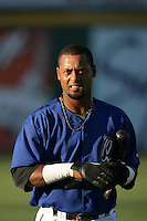 Alberto Rosario of the Rancho Cucamonga Quakes during game against the Inland Empire 66'ers at The Epicenter in Rancho Cucamonga,California on August 7, 2010. Photo by Larry Goren/Four Seam Images