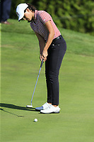 Albane Valenzuela (SUI)(AM) putts on the 5th green during Thursday's Round 1 of The Evian Championship 2018, held at the Evian Resort Golf Club, Evian-les-Bains, France. 13th September 2018.<br /> Picture: Eoin Clarke | Golffile<br /> <br /> <br /> All photos usage must carry mandatory copyright credit (© Golffile | Eoin Clarke)