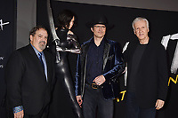 WESTWOOD, CA - FEBRUARY 05: (L-R) Jon Landau, Robert Rodriguez and James Cameron attend the Premiere Of 20th Century Fox's 'Alita: Battle Angel' at Westwood Regency Theater on February 05, 2019 in Los Angeles, California.<br /> CAP/ROT/TM<br /> ©TM/ROT/Capital Pictures