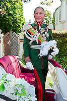 Zsa Zsa Gabor's husband, Frederick von Anhalt, Royal Uniform Medals, LA Pride 2010 West Hollywood, CA Parade