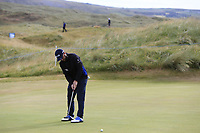 Andy Sullivan (ENG) putts on the 13th green during Thursday's Round 1 of the 2018 Dubai Duty Free Irish Open, held at Ballyliffin Golf Club, Ireland. 5th July 2018.<br /> Picture: Eoin Clarke | Golffile<br /> <br /> <br /> All photos usage must carry mandatory copyright credit (&copy; Golffile | Eoin Clarke)