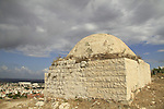 Israel, Sharon region, Sheikh's Tomb north of Migdal Afek overlooking the city of Rosh Ha'ayin