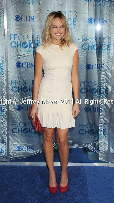 LOS ANGELES, CA. - January 05: Malin Akerman arrives at the 2011 People's Choice Awards at Nokia Theatre L.A. Live on January 5, 2011 in Los Angeles, California.