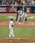 Munenori Kawasaki (Blue Jays), Masahiro Tanaka (Yankees),<br /> JUNE 17, 2014 - MLB : Japan's infielder Munenori Kawasaki of the Toronto Blue Jays strikes out Japan's pitcher Masahiro Tanaka of the New York Yankees in the 4th inning during the Major League Baseball game at Yankee Stadium in the Bronx, NY, USA. Kawasaki strikes out swinging. <br /> (Photo by AFLO)