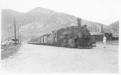 D&amp;RGW #478 with passenger train in Silverton?<br /> D&amp;RGW  Silverton ?, CO