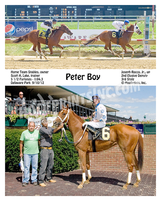 Peter Boy winning at Delaware Park on 9/10/12