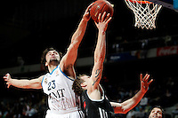 Real Madrid's Sergio Llull during Euroliga match. February 28,2013.(ALTERPHOTOS/Alconada)