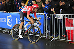 Tiesj Benoot (BEL) Lotto-Soudal in action during Stage 1, a 14km individual time trial around Dusseldorf, of the 104th edition of the Tour de France 2017, Dusseldorf, Germany. 1st July 2017.<br /> Picture: Eoin Clarke | Cyclefile<br /> <br /> <br /> All photos usage must carry mandatory copyright credit (&copy; Cyclefile | Eoin Clarke)