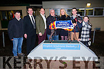 Pat Buckley trained Droopys Nine (Central City/ Droopys Solange) became the last major winner of the year in Ireland  to claim the €7,000 Vulturi @ Stud Kingdom Derby final at the Kingdom Greyhound StadiumTralee on Tuesday night. Pictured Pat Buckley, Trainer, Declan Dowling, Mike Davis, Part Owner, Javier Jarne, Vulturi Sponsor, Michelle Connolly, Part owner, Chris Connolly, asst. Trainer, Emma Buckley