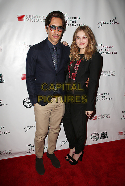 SANTA MONICA , CA - OCTOBER 24: Nicola Tombacco, Willow Shields, at Premiere Of 'The Journey Is The Destination' At The Laemmle Monica Film Center in Santa Monica, California on October 24, 2017. <br /> <br /> CAP/MPI/FS<br /> &copy;FS/MPI/Capital Pictures