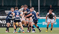 Bedford's Edward Taylor sneaks the ball out during the Greene King IPA Championship match between Ealing Trailfinders and Bedford Blues at Castle Bar , West Ealing , England  on 29 October 2016. Photo by Carlton Myrie / PRiME Media