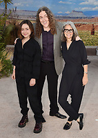 "WESTWOOD, CA - OCTOBER 07: (L-R) Nina Yankovic, Weird Al Yankovic and Suzanne Yankovic attend the premiere of Netflix's ""El Camino: A Breaking Bad Movie"" at Regency Village Theatre on October 07, 2019 in Westwood, California.<br /> CAP/ROT/TM<br /> ©TM/ROT/Capital Pictures"