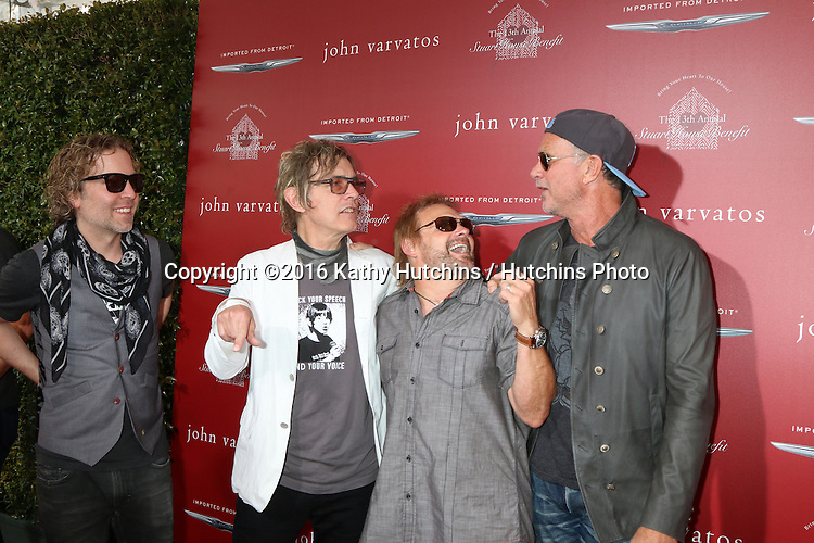 LAS VEGAS - APR 17:  Daxx Nielsen, Tom Petersson, Michael Anthony, Chad Smith at the John Varvatos 13th Annual Stuart House Benefit at the John Varvatos Store on April 17, 2016 in West Hollywood, CA
