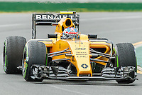 March 18, 2016: Jolyon Palmer (GBR) #30 from the Renault Sport F1 team rounds turn 2 during practise session one at the 2016 Australian Formula One Grand Prix at Albert Park, Melbourne, Australia. Photo Sydney Low